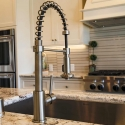Close up of kitchen faucet