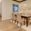 Looking into formal dining with view of foyer