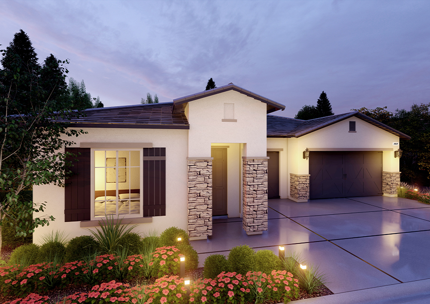 Avery Modern Traditional Exterior.