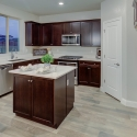 The kitchen with large kitchen island.