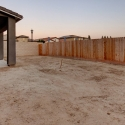 The large backyard, ready for landscaping.