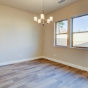 The dining nook area of the open floor plan.