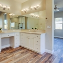 His-and-hers sinks in the master bathroom.