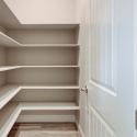 Walk-in pantry within the butler pantry.
