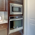 Built-in Whirlpool oven and microwave.