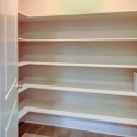 The step-in kitchen pantry.
