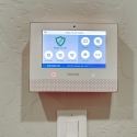 Pre-installed Honeywell security system.