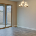 The dining nook, with sliding glass door that leads to the covered patio.
