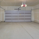 The inside of the two-car garage.
