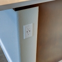 Outlet with USB charging ports at the kitchen island.