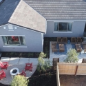 Aerial shot of the Cali Model Home at Copper River Ranch