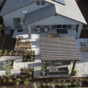 Aerial shot of the Pasatiempo Model Home at Copper River Ranch