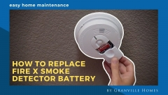 How to Replace Fire X Smoke Detector Battery Video Thumbnail