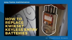 How to Replace Kwikset Keyless Entry Batteries Video Thumbnail