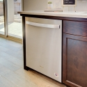 The included stainless steel Whirlpool dishwasher.