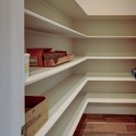 The spacious walk-in pantry.