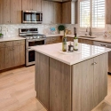 The kitchen, with KitchenAid Appliance Package included.