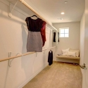 One of the walk-in owner's closets.