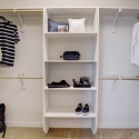 The second of the walk-in owner's closets.