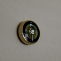 A pre-installed nest thermostat.