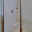 Closer view of the step-in shower.