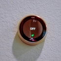 The pre-installed nest thermostat.