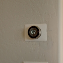 The pre-installed Nest smart thermostat.