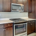 The kitchen, with included Whirlpool appliances.