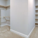 The spacious walk-in owner's closet.