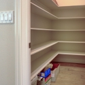 The walk-in pantry at the butler's pantry.
