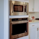 The included KitchenAid built-in microwave and oven.