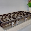 The included KitchenAid 5-burner gas cooktop.