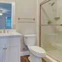 The bathroom for the fourth bedroom or guest suite.