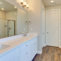 Dual sinks in the Owner's Bath.