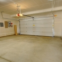 The interior of the two-car garage.