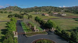 Aerial view of the entrance to Ventana Hills.