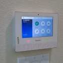 The pre-installed Honeywell security controller.
