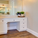 The vanity in the owner's bath.