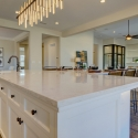 Looking over the kitchen island towards the dining room and great room.