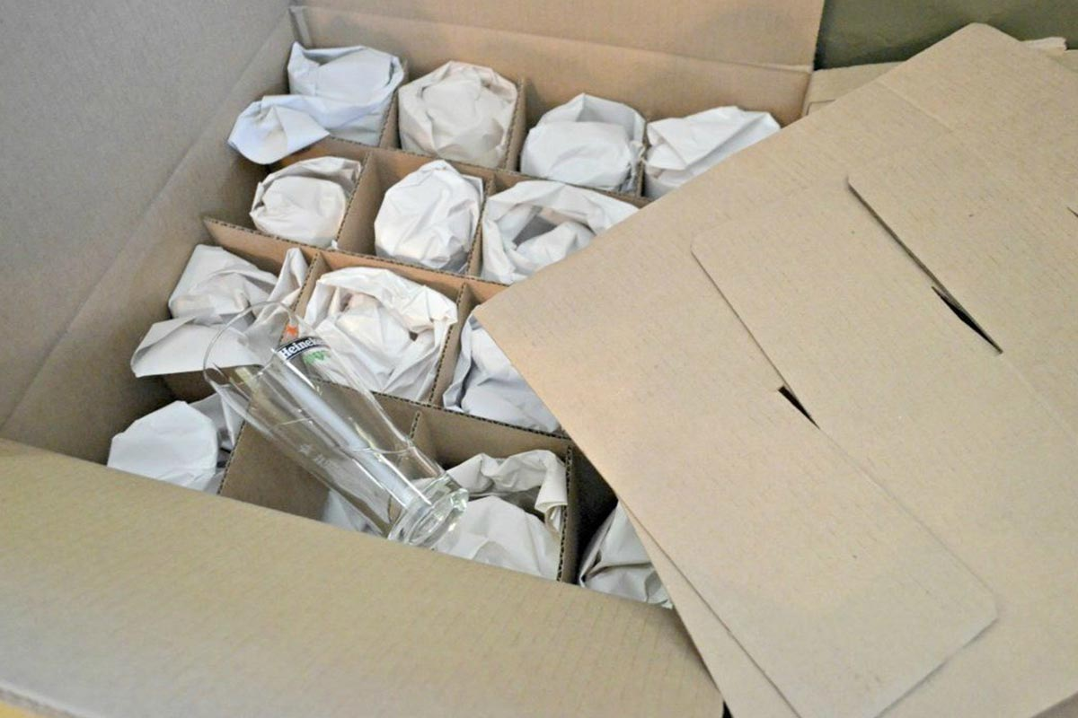 China packed in boxes