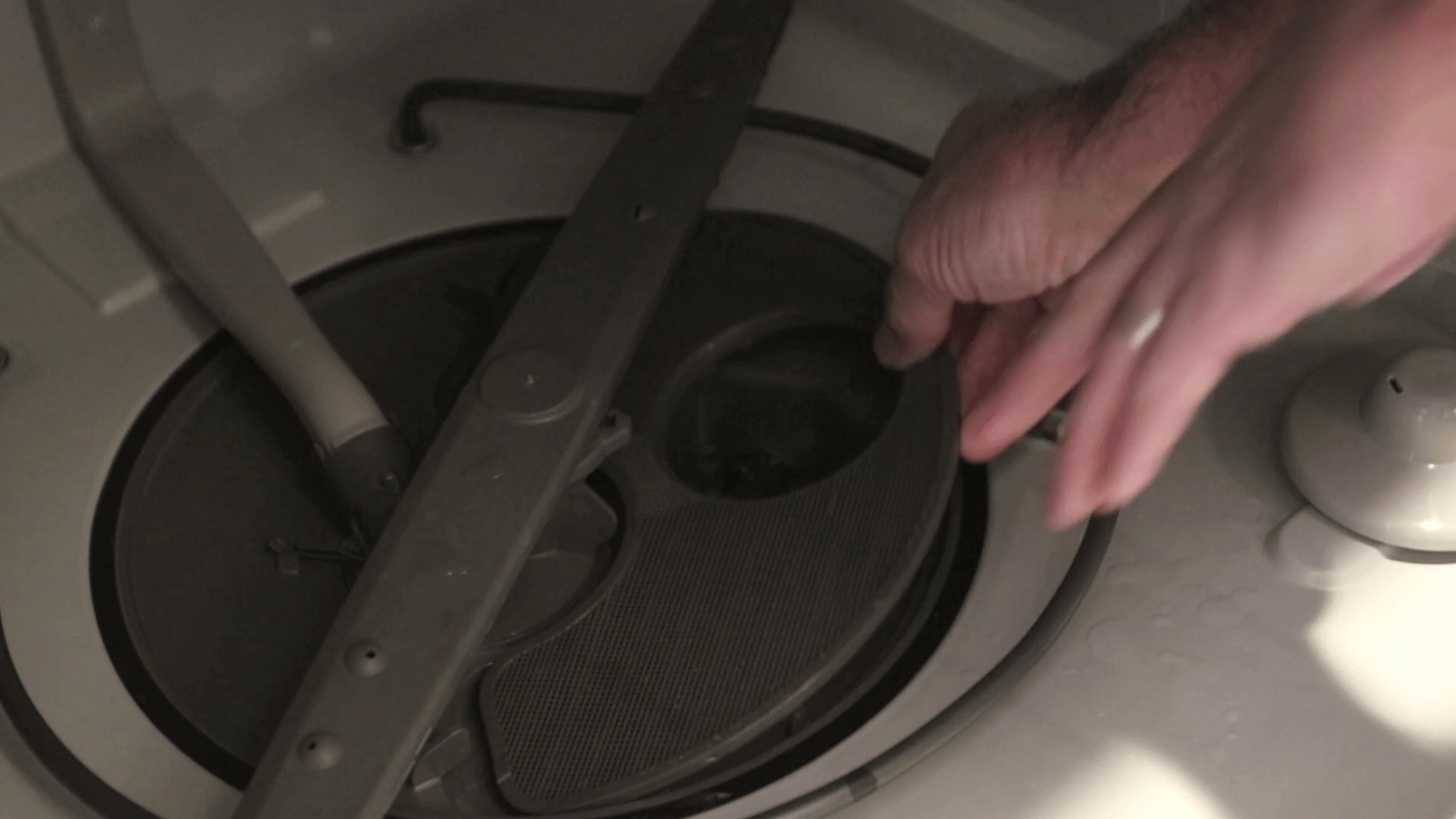 Reassemble the dishwasher filter